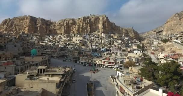 Vesnice Maaloula v horách Sýrie 2017