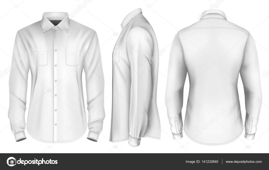 2761a90514ba Pánská košile s dlouhým rukávem formální — Stock Vektor © ivelly ...