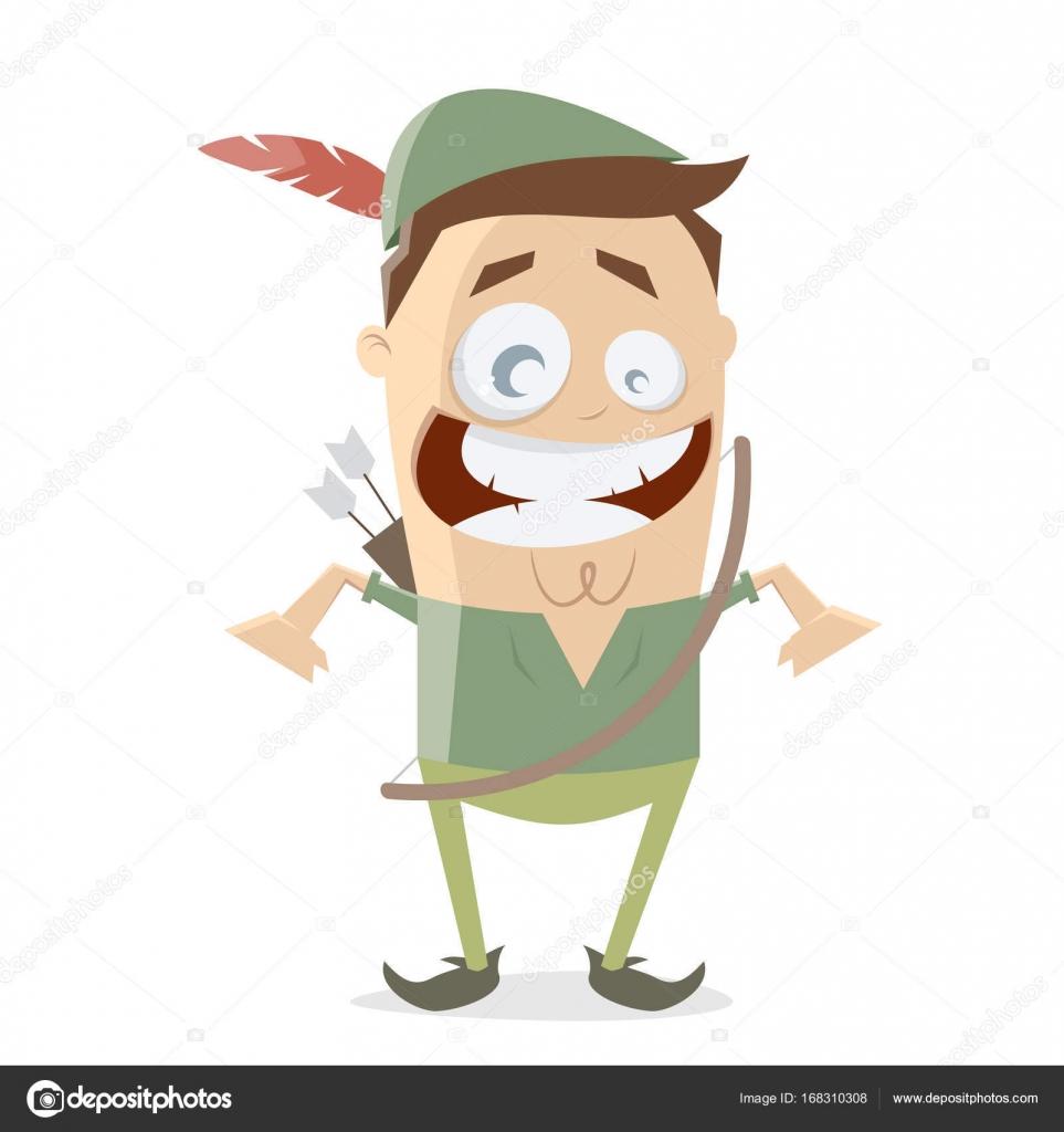 vetor de robin hood dos desenhos animados vetor de stock
