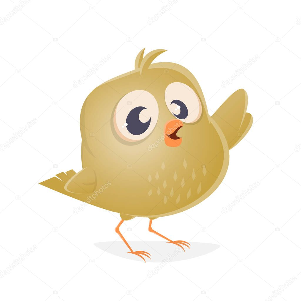 funny clipart of a baby bird