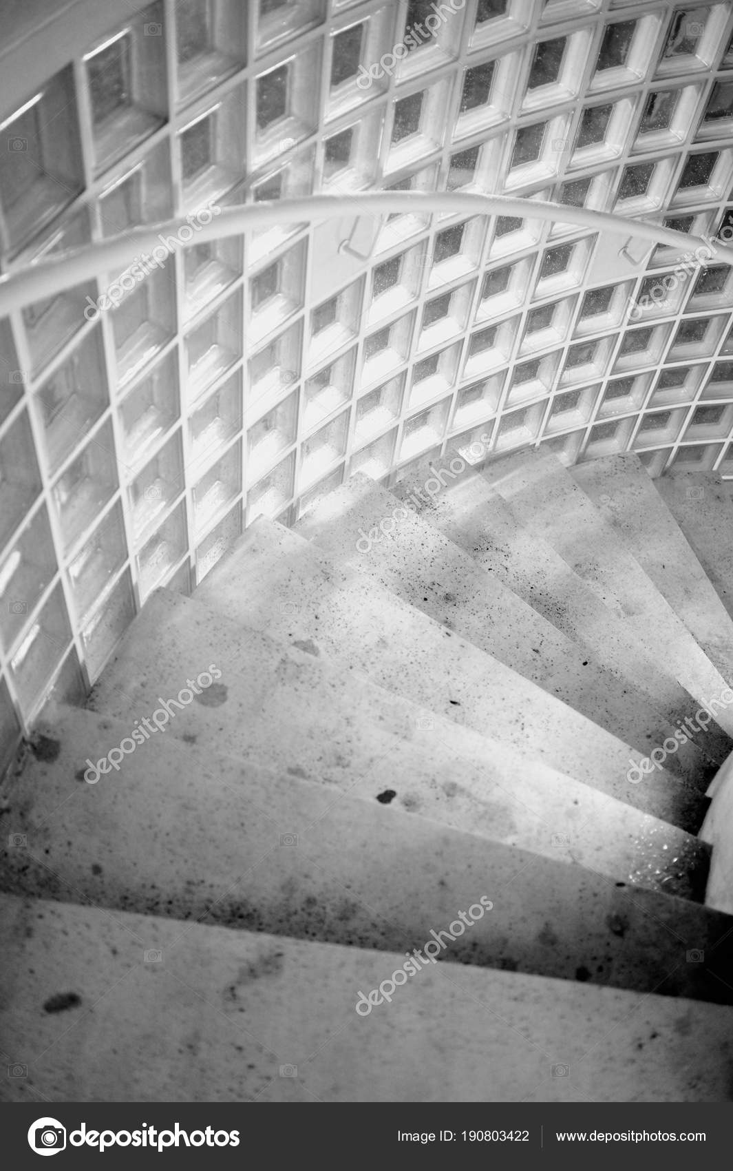 Marble Stairs Black White Going Stairs Underground Parking Lot Stock Photo C Editor77 190803422