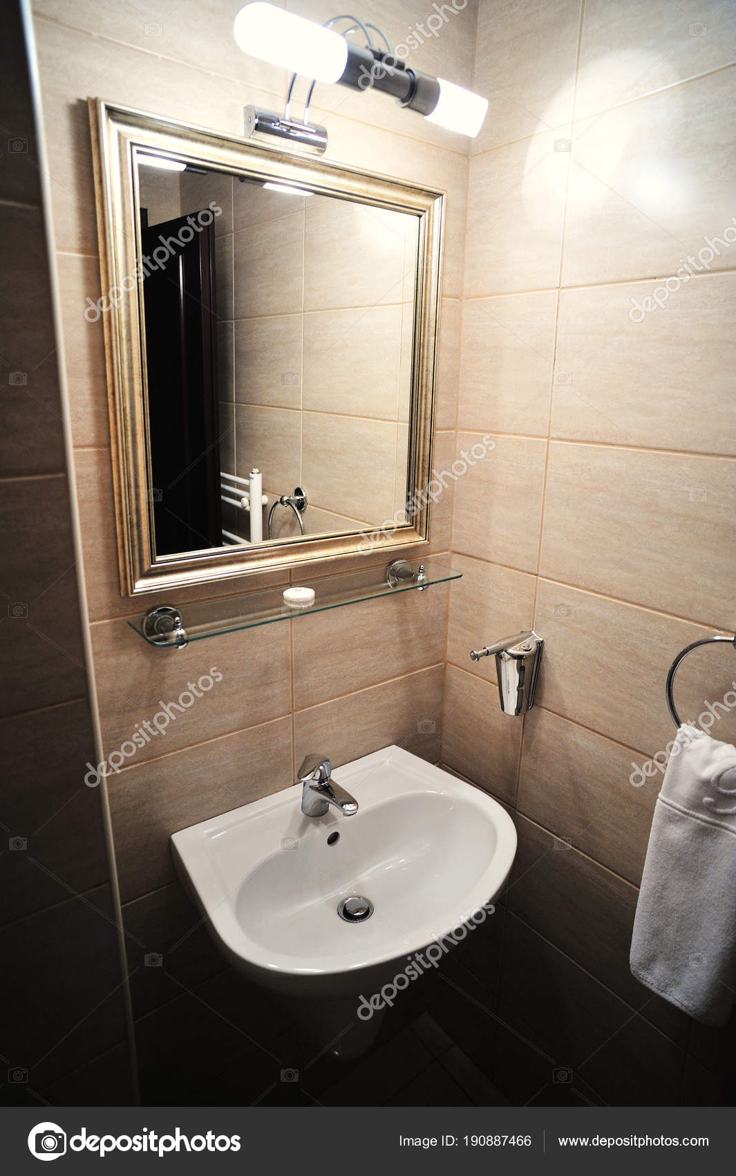 Elegant Marble Bathroom Luxury Hotel Bathroom Accessories Stock Photo C Editor77 190887466