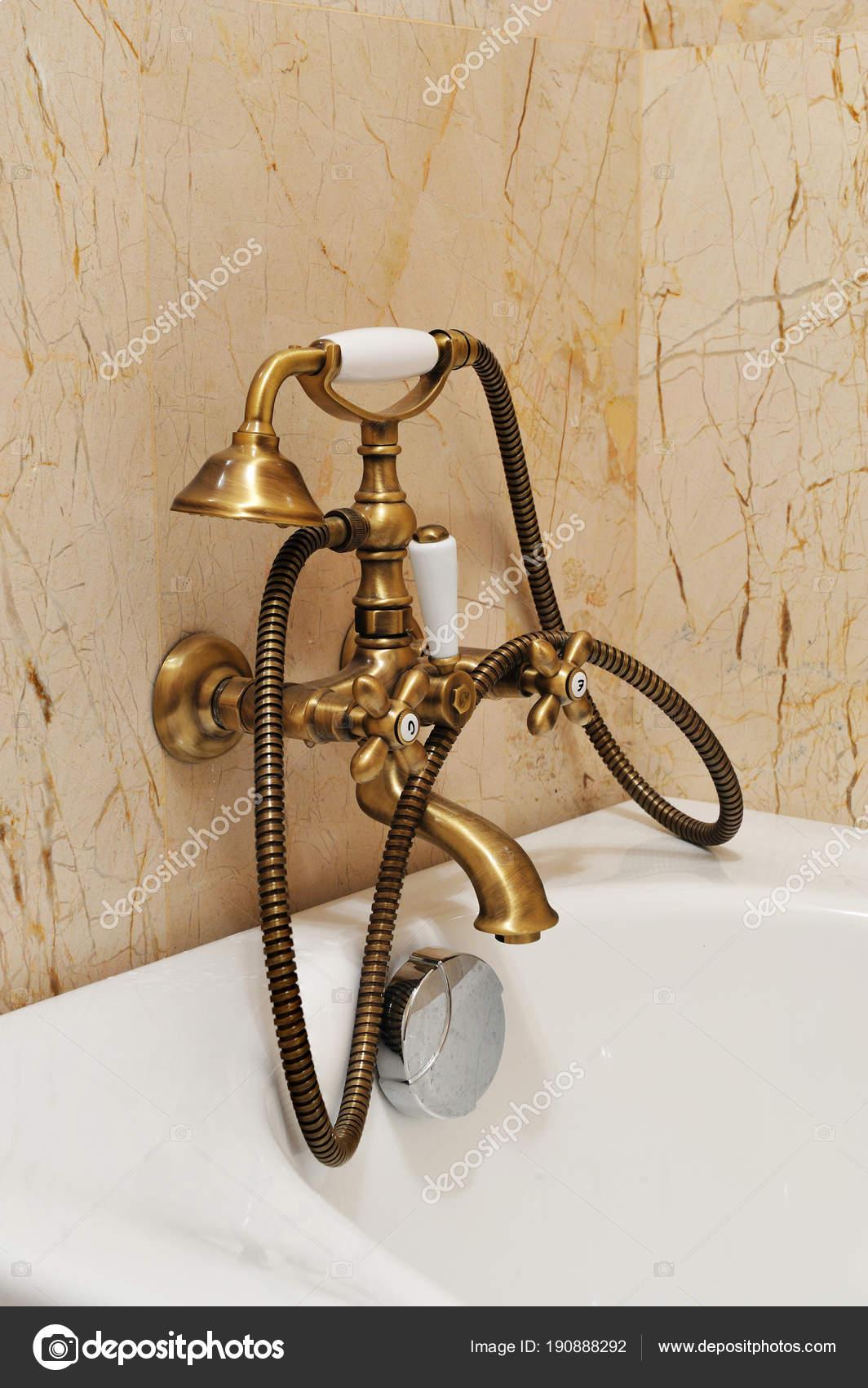 Vintage Dusche Fur Badezimmer Vintage Goldene Dusche Mit Batterie