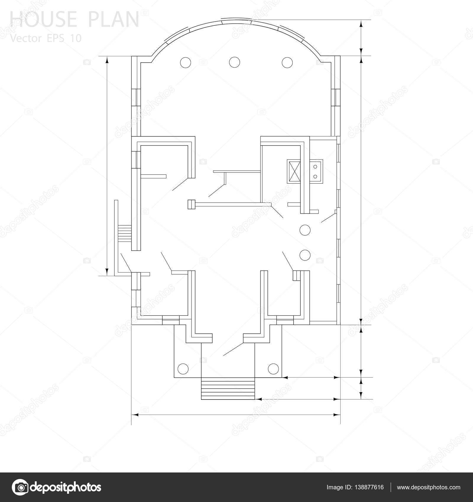 House plan -vector — Stock Vector © Aleks49011 #138877616