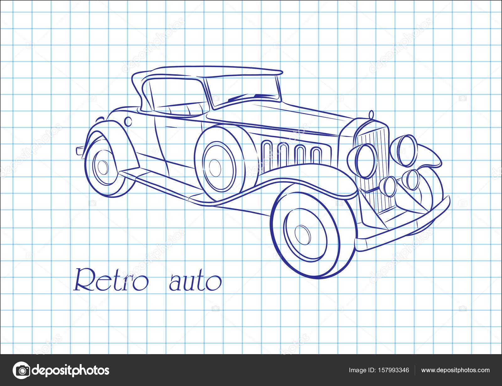 Retro Auto Skizze — Stockvektor © Aleks49011 #157993346