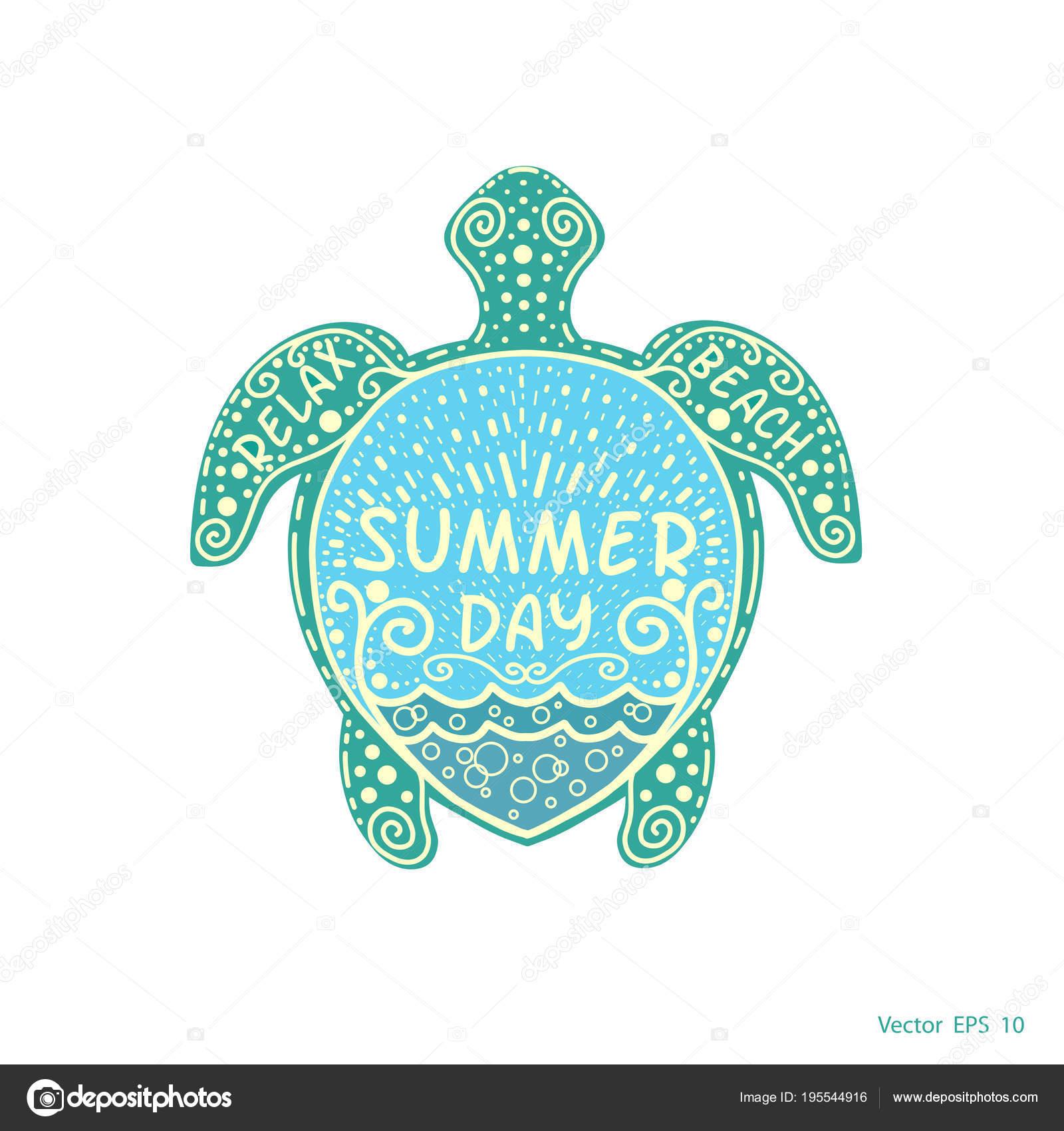 sea turtle pattern summer day stock vector aleks49011 195544916