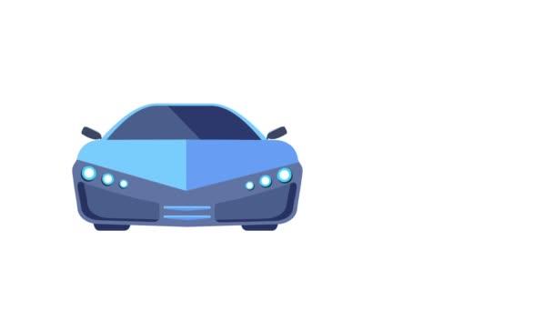 Electro Car Az autó feltölt egy elektromos akkumulátor.Transport a jövő.