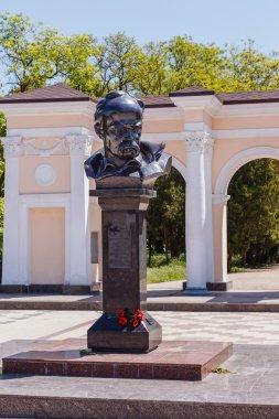 Simferopol, Crimea - May 9, 2016: Monument to Ukrainian poet and