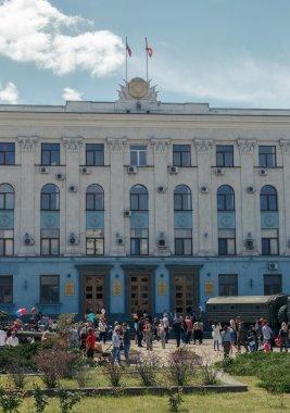 Simferopol, Crimea - May 9, 2016: Council of Ministers of Crimea