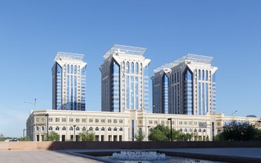 Astana, Kazakhstan - August 12, 2016:  BUSINESS CENTER MILLENNIU