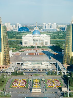 General view on new Astana. Palace