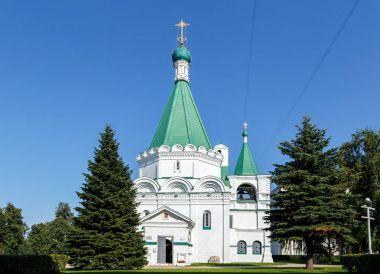 Russia, Nizhny Novgorod - August 21, 2017: Cathedral of the Archangel Michael. Within the walls of the Nizhny Novgorod Kremlin