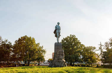 Russia, Nizhny Novgorod - August 22, 2017: Monument to Maxim Gor