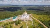 Belogorsky Klášter St. Nicholas ortodoxní misionář. Rusko, Perm území, bílá Hora