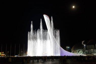 Russia, Sochi - September 03, 2017: Sochi park. Singing fountain