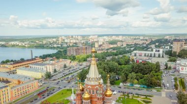 Russia, Izhevsk - August 18, 2017: Cathedral of the Holy Archangel Michael