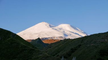 Mount Elbrus at dawn. Caucasus Mountains, Russi