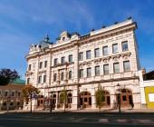 Rusko, Kazaň - 19. srpna 2017: Dům Ushkova - národní knihovna republiky Tatarstán