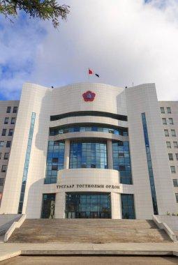 Mongolia, Ulaanbaatar - August 08, 2018: Independence House