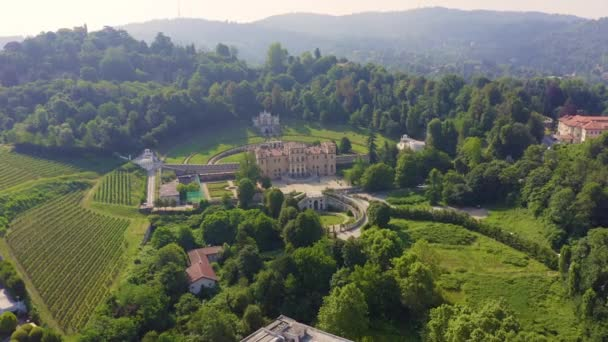 Turin, Italien. Villa della Regina mit Park. 4K
