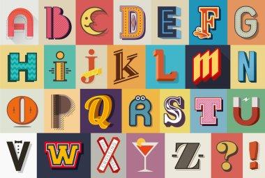 Vintage typography font