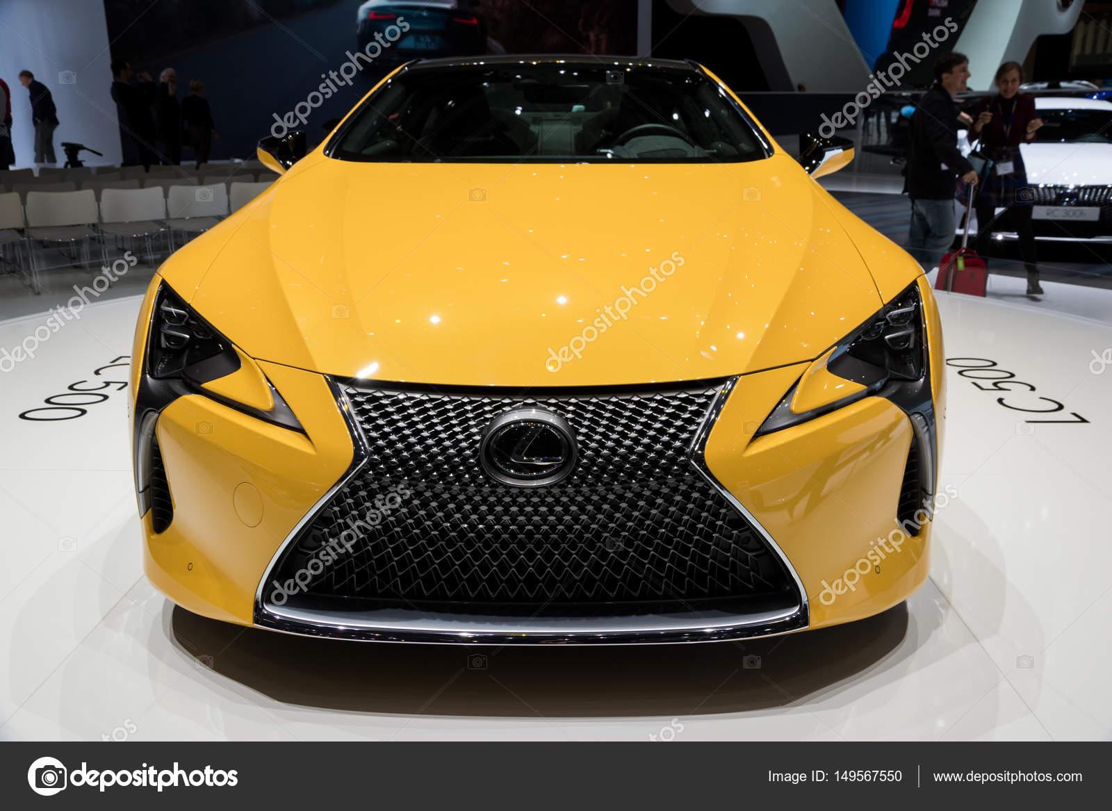 2018 Lexus Lc 500 Luxe Coupe Hybride Auto Redactionele Stockfoto