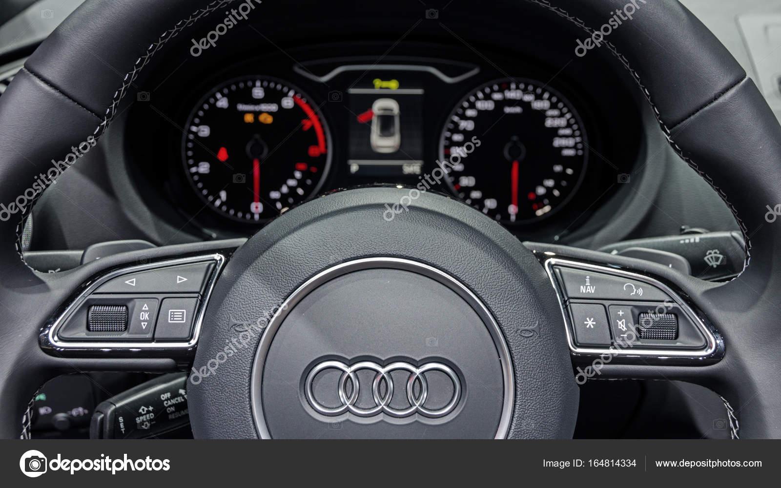 Audi A3 Interior Car U2014 Stock Photo