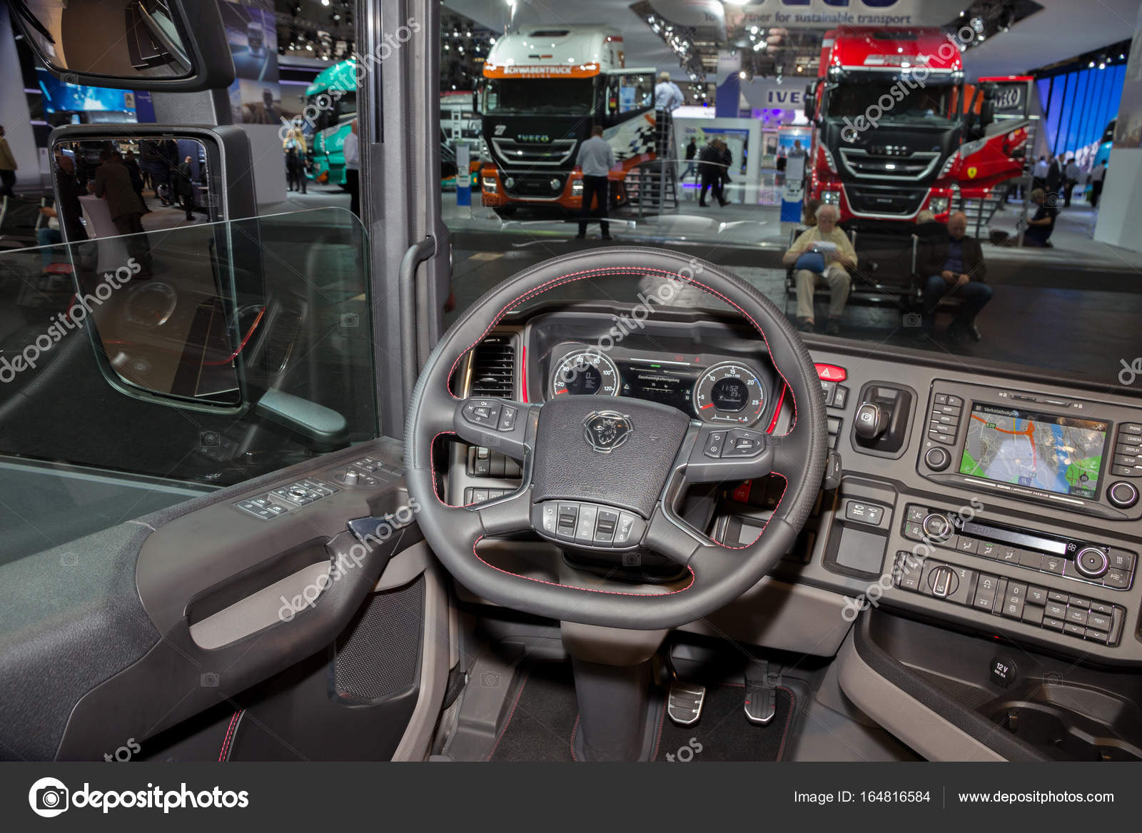 New scania truck interior | Scania truck interior – Stock