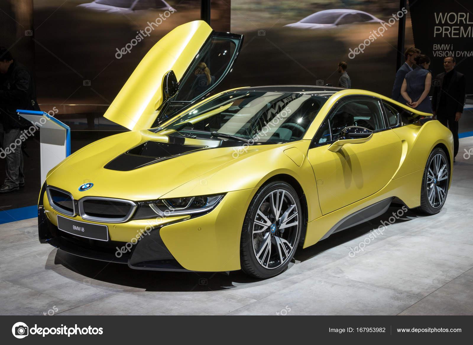 Bmw I8 Protonic Frozen Yellow Edition Sports Car Stock Editorial