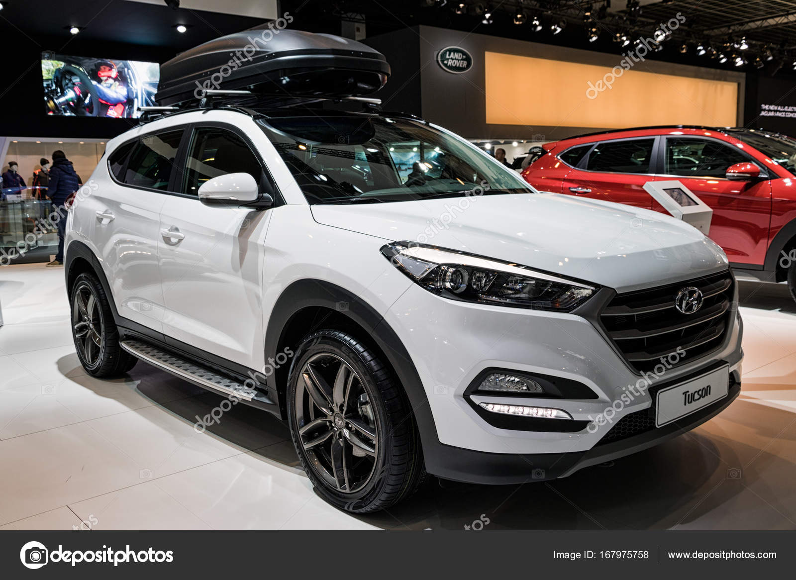carro hyundai tucson de 2017 fotografia de stock editorial foto vdw 167975758. Black Bedroom Furniture Sets. Home Design Ideas