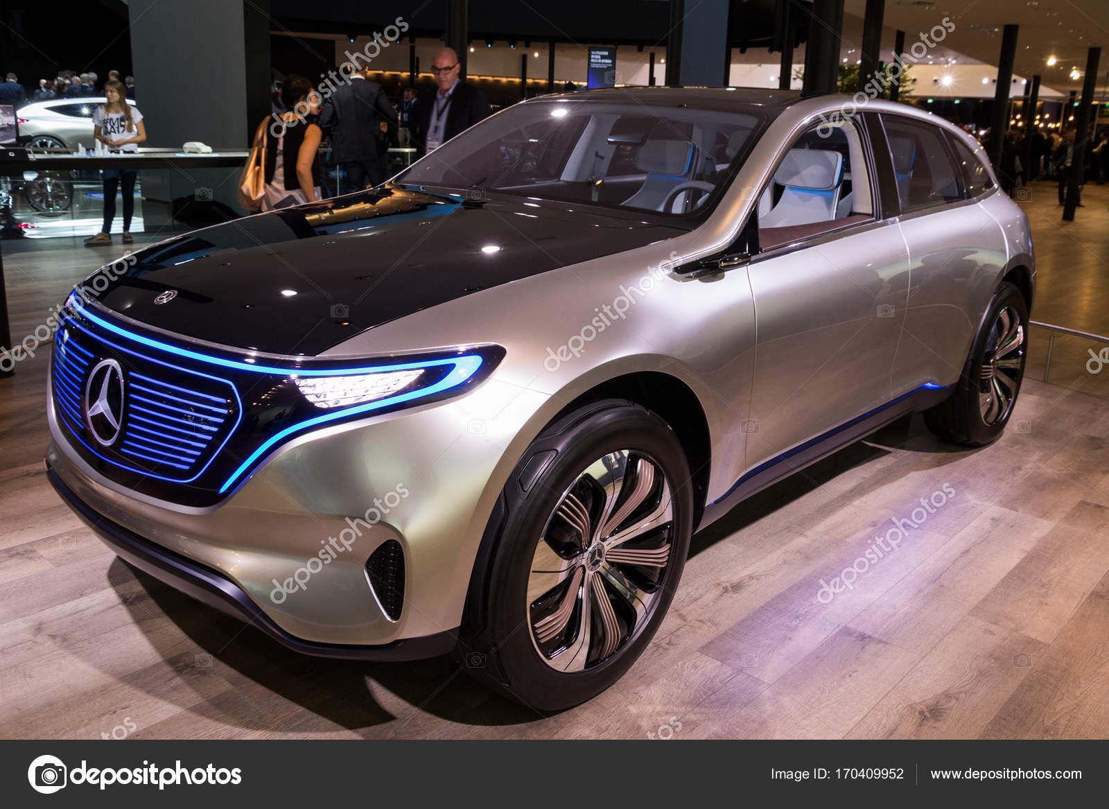 Mercedes benz eq concept electric suv car stock for Mercedes benz concept electric car