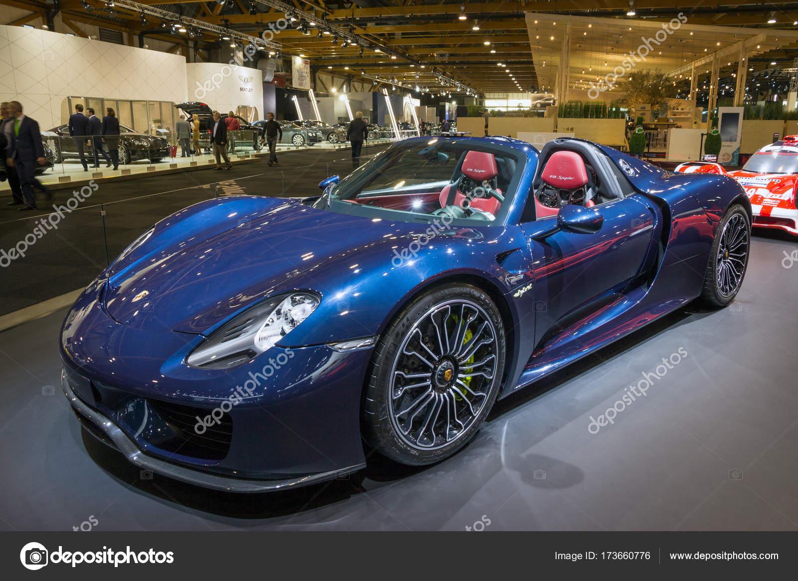 Porsche 918 Spyder Sports Car Stock Editorial Photo C Foto Vdw