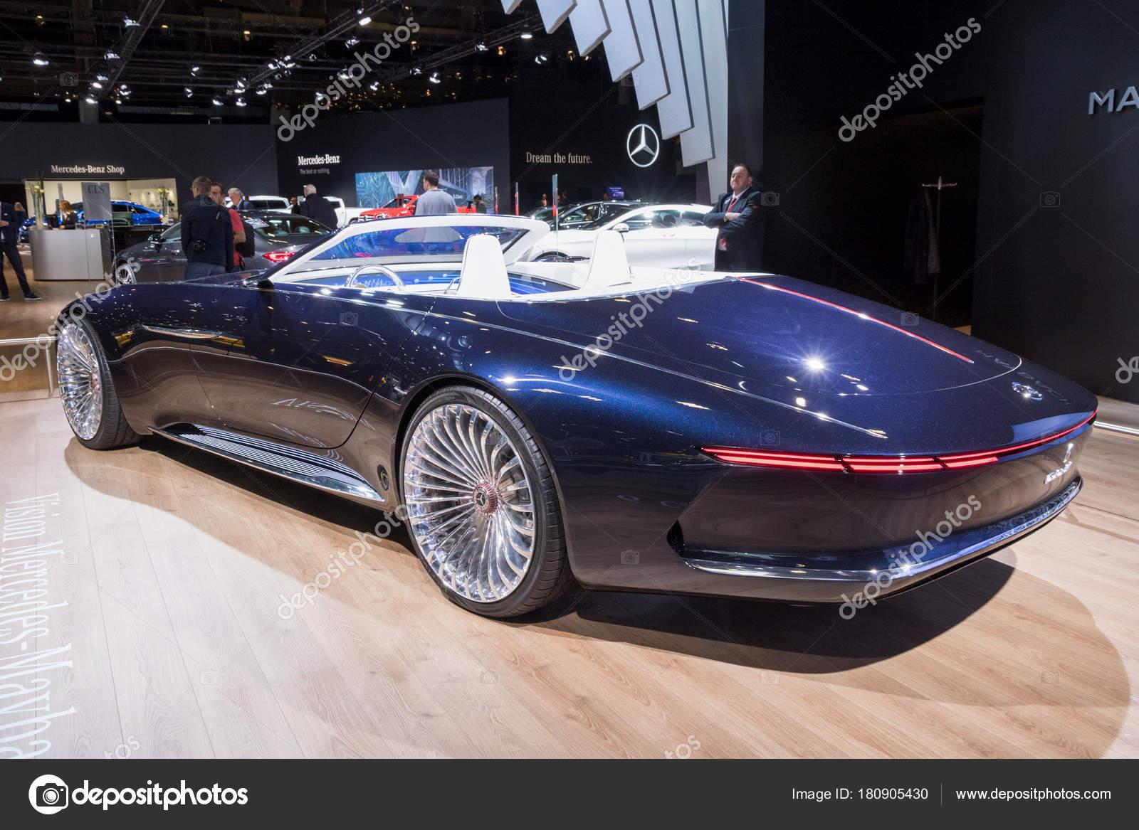 brüssel januar 2018 vision mercedes maybach cabrio auto präsentiert