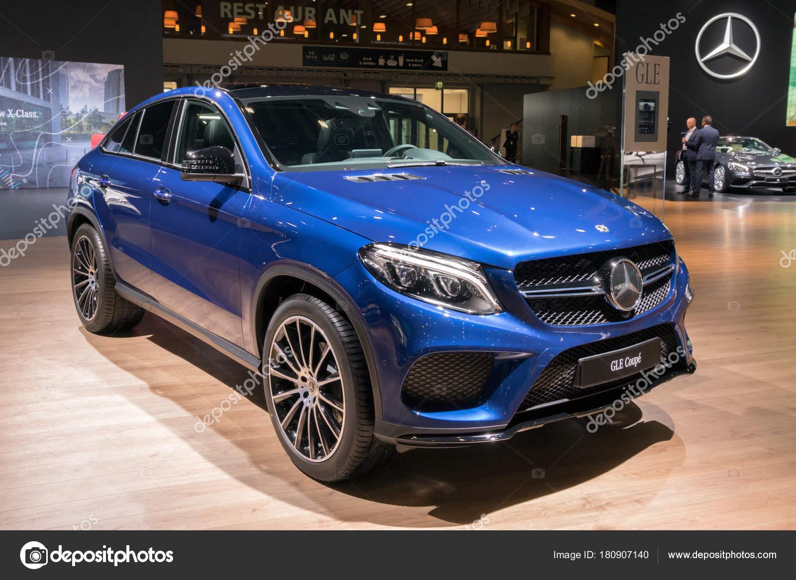 Brussel Jan 2018 Mercedes Benz Gle Coupe Auto Tentoongesteld Het