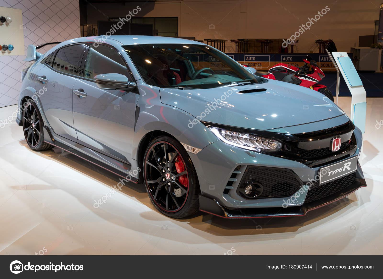 Bruxelas Janeiro 2018 Carro Alta Performance Honda Civic Type Apresentado U2014  Fotografia De Stock