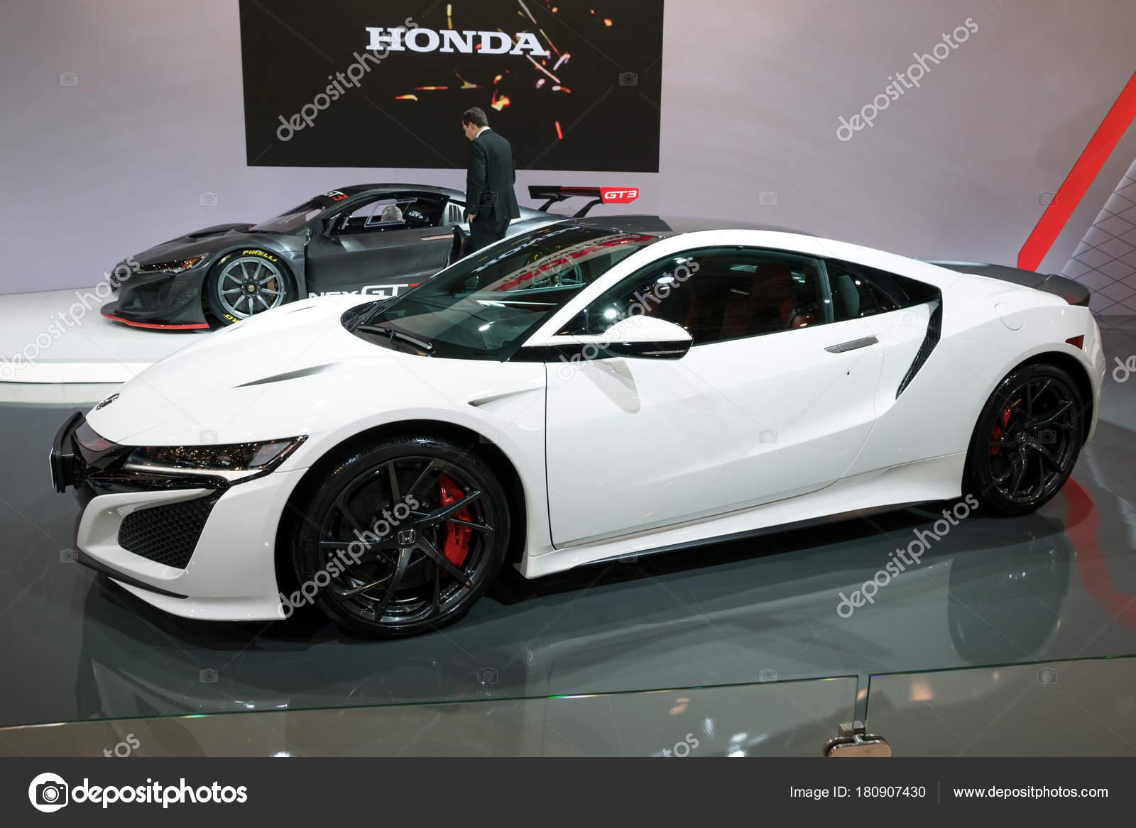 Bruselas Ene 2018 Honda Nsx Deportivo Exhibido Salón Del ...
