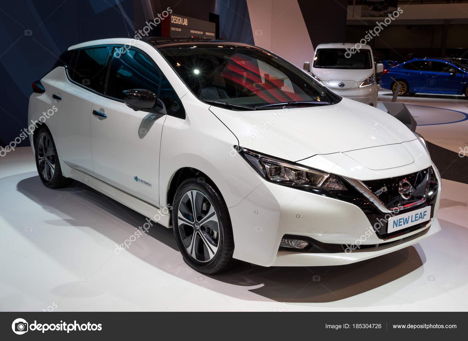 Nieuwe Nissan Leaf Elektrische Auto Redactionele Stockfoto C Foto