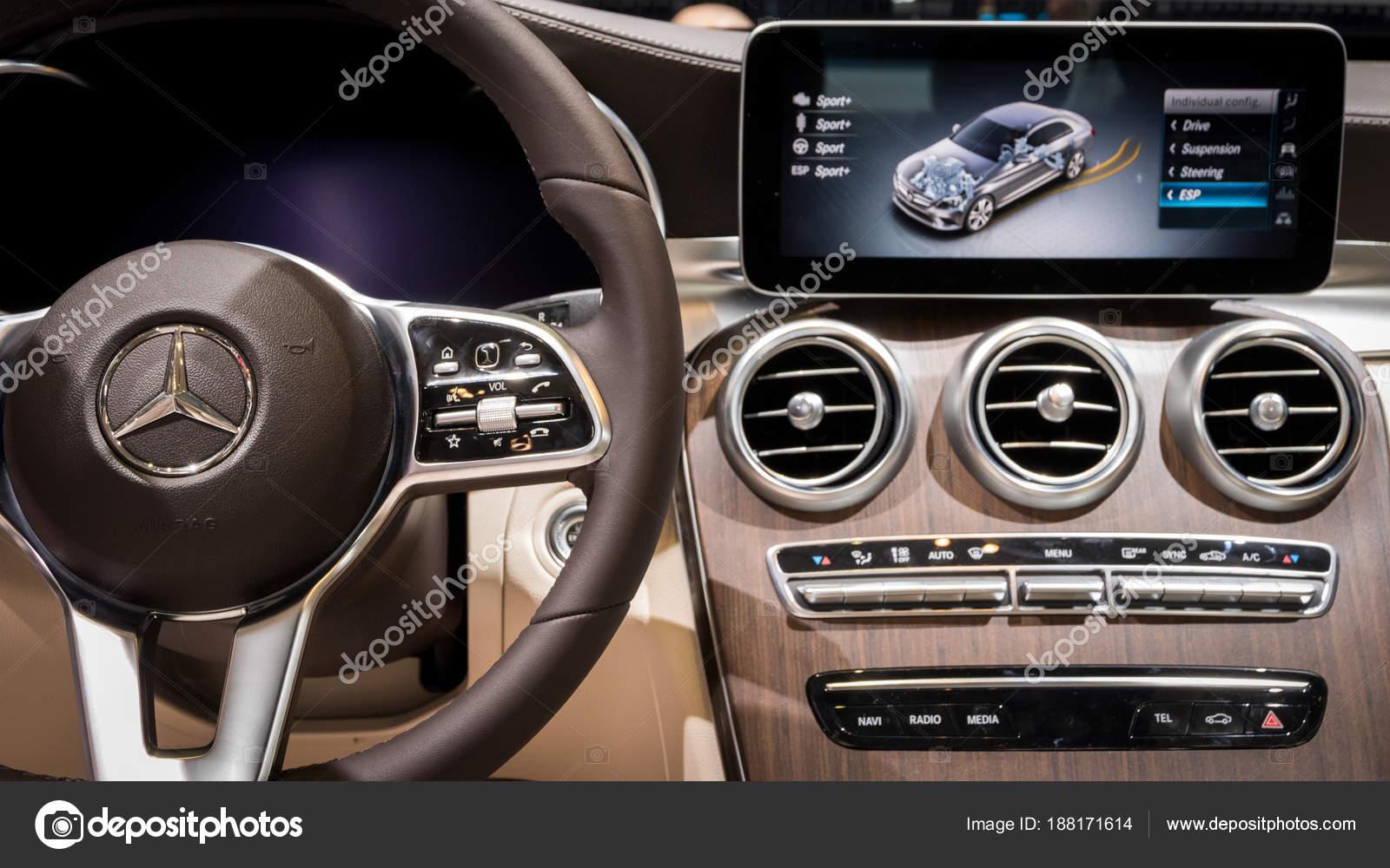 Mercedes Benz C Class C200 Car Interior Stock Editorial Photo