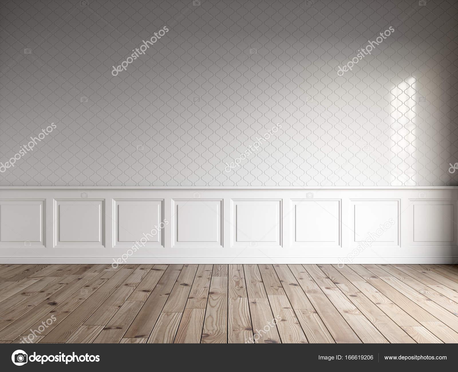 3d render dellinterno bianco con pannelli classici piastrelle a