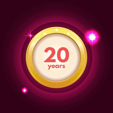 Anniversary 20 years icon