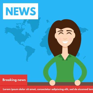 Breaking news TV Screen Layout