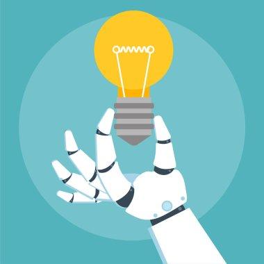 Robot arm holding bulb