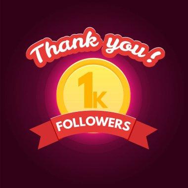 Thank you followers banner
