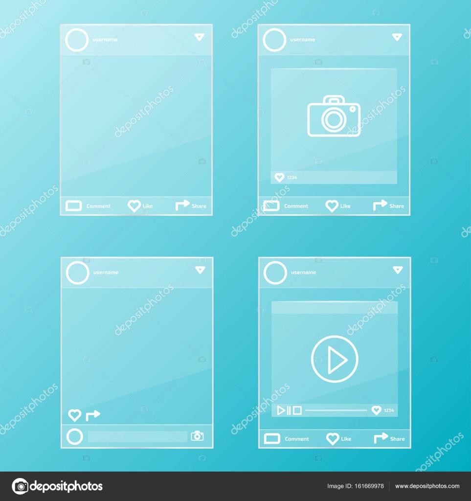 conjunto de marcos de vidrio — Vector de stock © AnSim #161669978