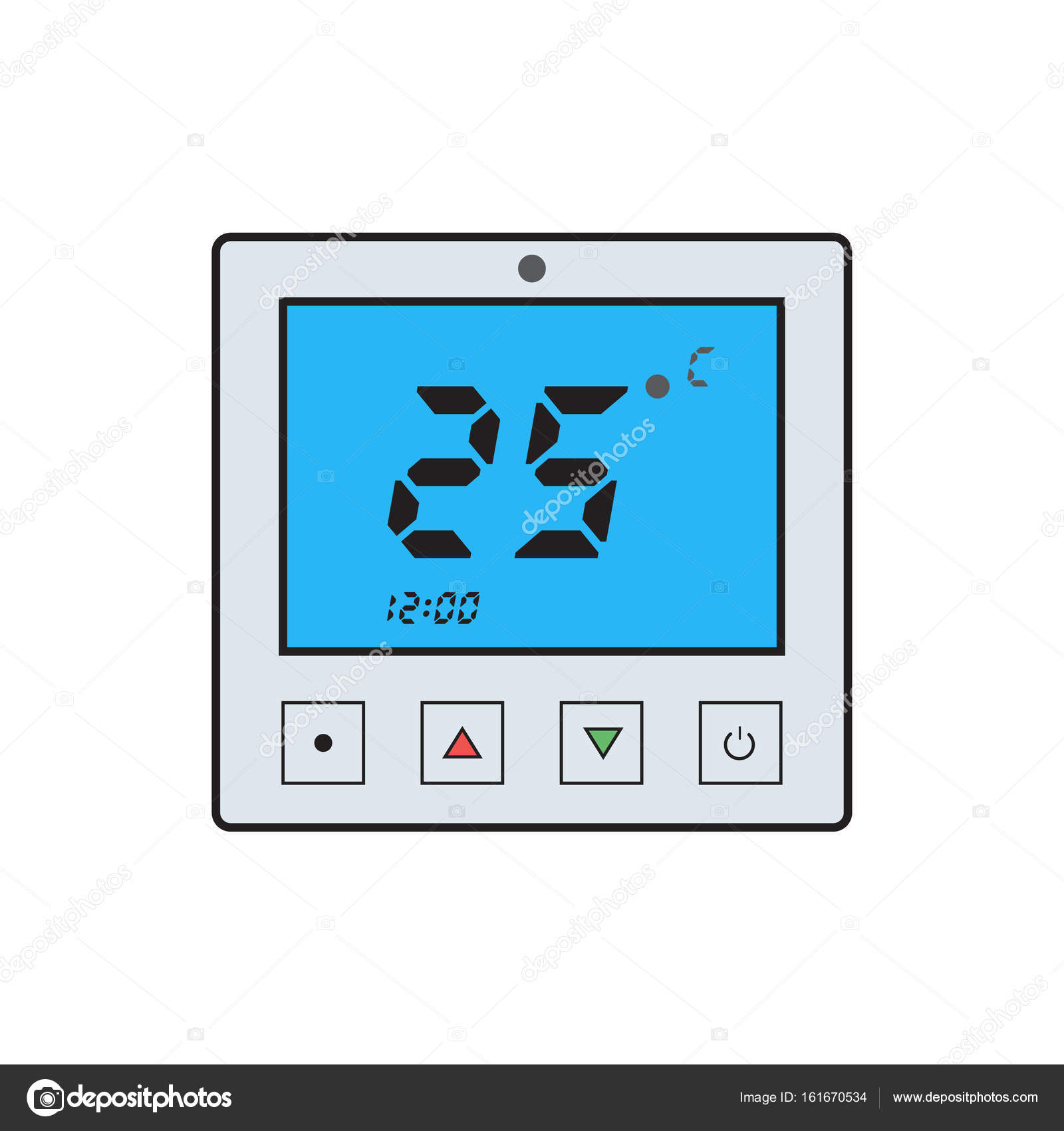electronic thermostat icon stock vector ansim 161670534