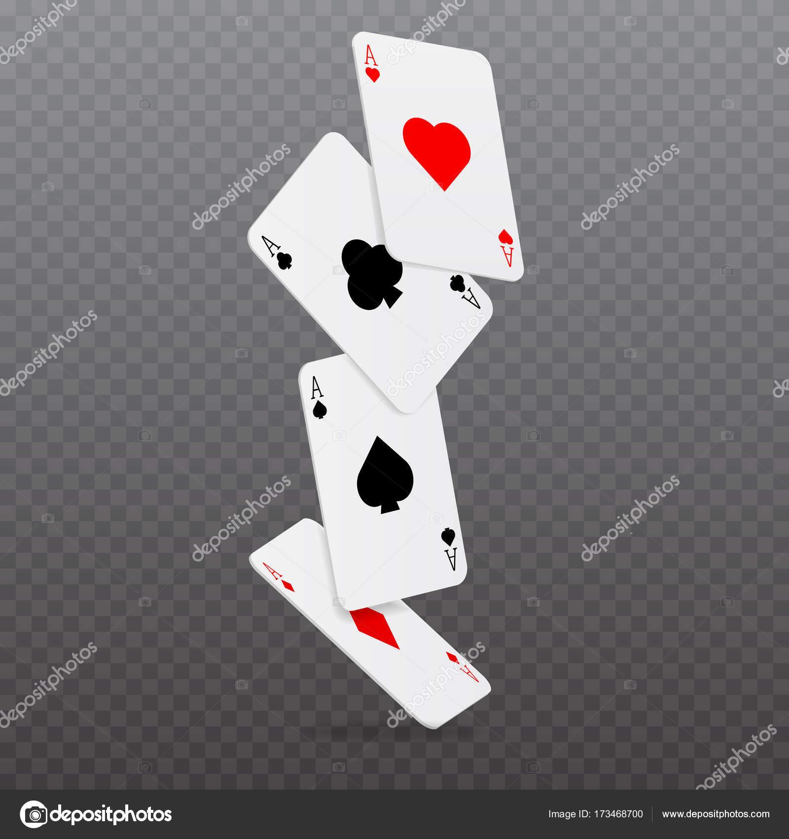 Caer Concepto Juego Cartas Poker Casino Ilustracion Vector Vector