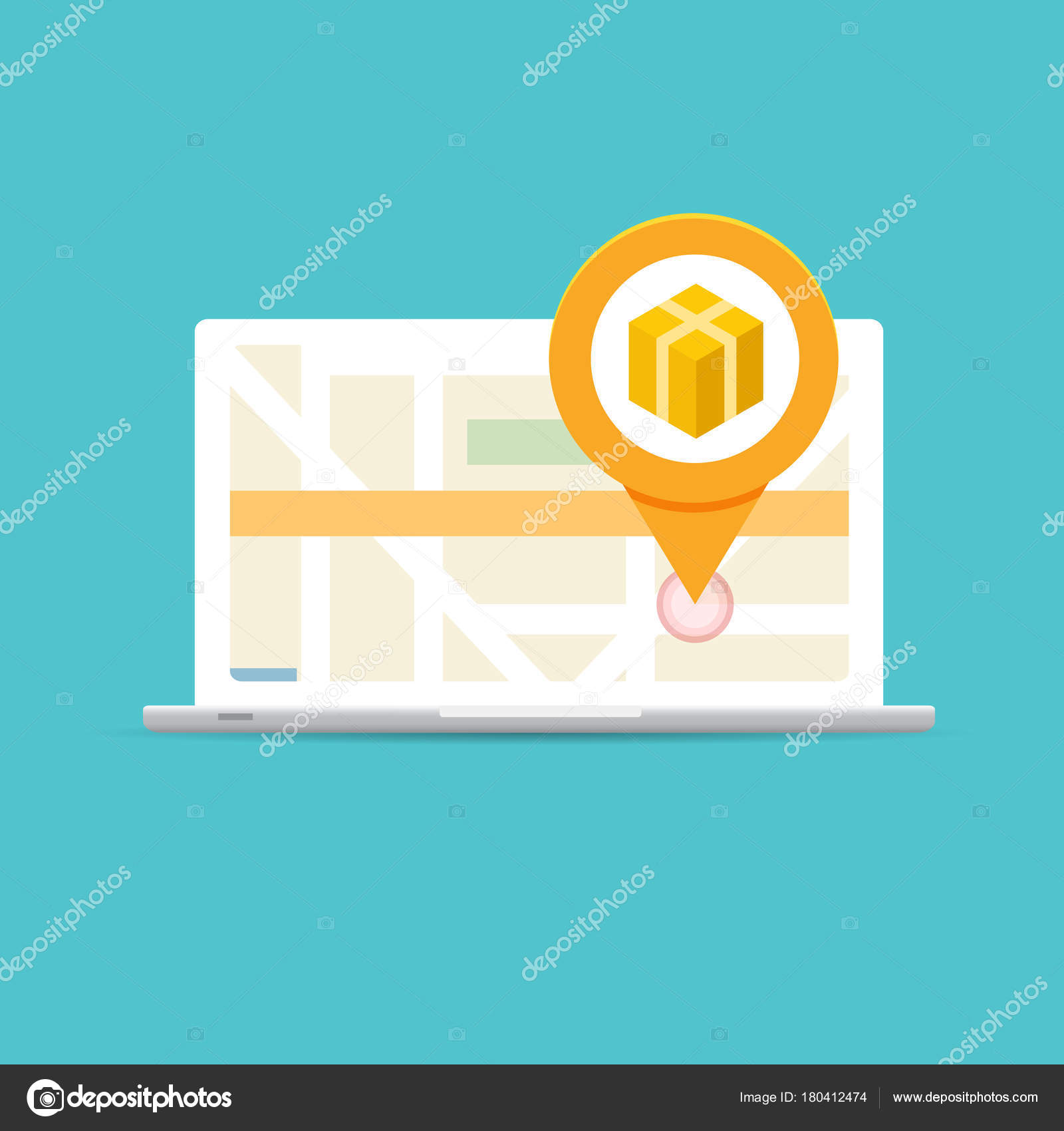 parcel package tracking online app concept vector illustration