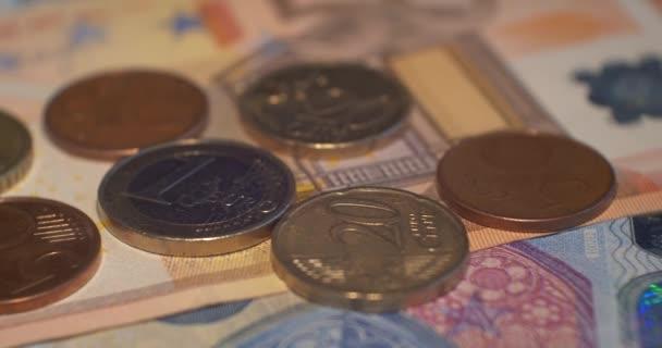 Euro mince peníze Eur, měna Evropské unie
