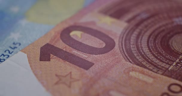 10 euro banknote details close-up EUR currency