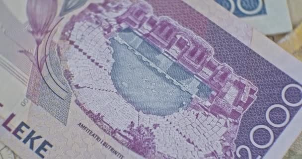 Close up of 2000 Albanian LEK. Albania national currency